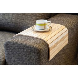 Brown Wooden Sofa Arm Tray, Size: 23 Cm X 30 Cm X 1 Cm