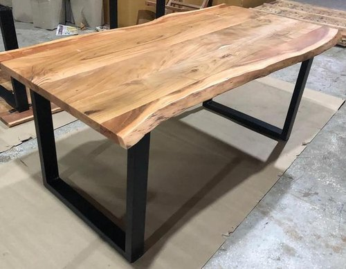 Brown Live Edge Dining Table Acacia For Furniture Thickness 4 Cm Id 22353371848