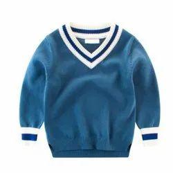 Kids V Neck School Sweater