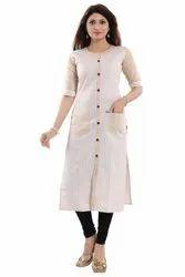 Pocket Style Cotton Kurti