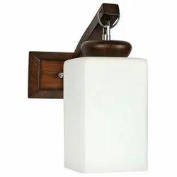 Cuboidal Shaped Glass Wall Light