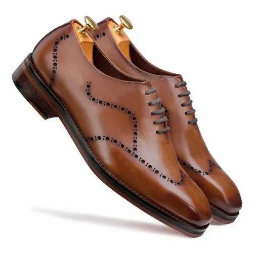 1c89d9611c2f5 Leather Escaro Royale Michael Wholecut Dark Tan Wingtip Oxford Shoes ...