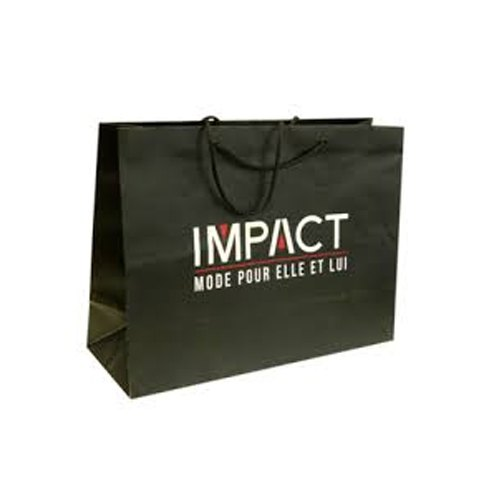 Black Printed Paper Bag, Capacity: Upto 5 kg