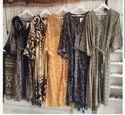 Ethnic Block Printed Cotton Dress, Packaging Type: Bag