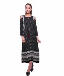 Ladies Long Printed Dress