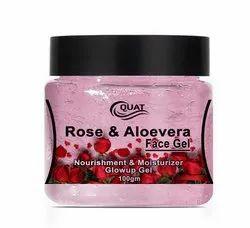 pink Quat Rose & Aloe Vera Face Gel 100gm, Type Of Packaging: jar
