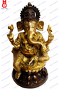 Lord Ganesh Sitting On Lotus Statue