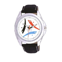 Ons Casual Leather Strap Wrist Watch