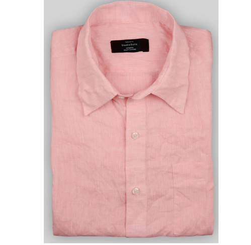 26454aca546 Urban Design Pink Men Linen Cotton Formal Shirts