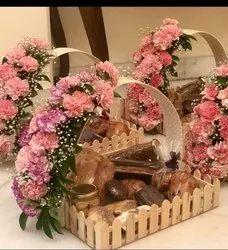 Wooden Designer Gift Tray for wedding