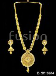 Traditional Wedding Long Necklace Set