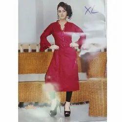 Women Bell Sleeves Cotton Kurta