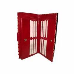 Red Ladies Leather Wallet