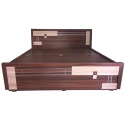 Woodline Creation Multicolor Wooden Double Bed, for Home