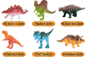 Unisex Rubber Dinosaur Toy Sets, 5*15, Single Box