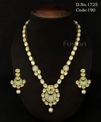 Traditional Vilandi Kundan Meenakari Necklace Set