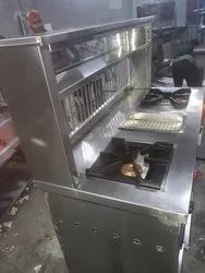 Steel 2 BURNER COUNTER, For COMMERCIAL, Size: 60X24X34+18