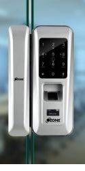 FINGERPRINT DIGITAL GLASS DOOR LOCK WITH 4-IN-1 ACCESS(GLASS TO GLASS)