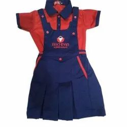 Red And Blue Girls School Uniform