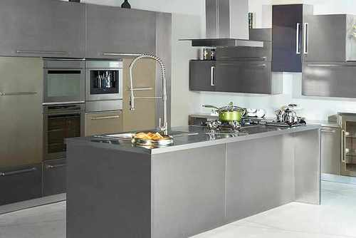 L Shape Stainless Steel Modular Kitchen, In Delhi (ncr)