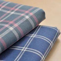Organic Cotton Yarn Dyed Plain Checked Fabric