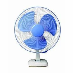 Blue And White Electric Table Fan