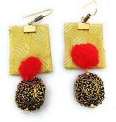 FE006 Handmade Fabric Earrings