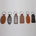 Leather Embossed Key Rings