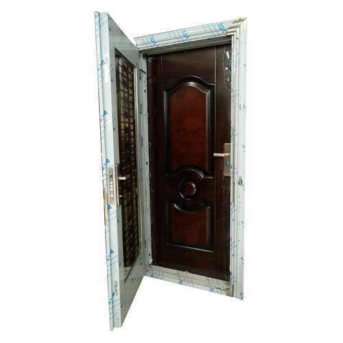 Silver Stainless Steel Security Door, Size: 2150x1000x220 ...