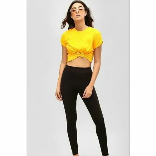 Plain Anti Bacterial Breathable Friscone Skinny Legging, Size: Free Size
