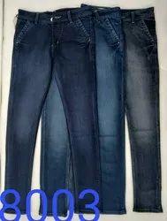 Regular Fit Mens Plain Knitted Denim Jeans