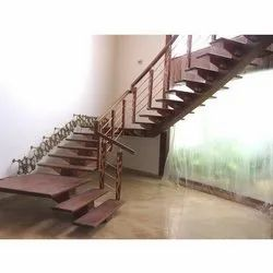 Brown Wooden Steps Staircase