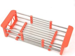 Multifunctional Foldable Stainless Steel Kitchen Drain Shelf Rack