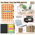 Eco Sticky Note Pad with Ball Pen H-814