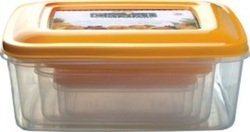 Rectangular Plastic Storage Container Crystal 5 Pc Nested Set