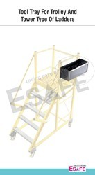 Tool Tray For Trolley And Tower Type Of Ladder