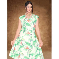 Ladies Party Wear Digital Floral Printed Frock Style Dress eacde093a