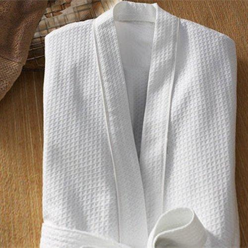 a822037f1f White Infiniti Linens Cotton-Polyester Waffle Bathrobe