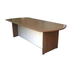Rectangular Wooden Brown Office Conference Table