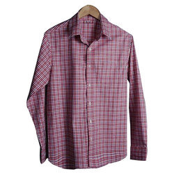 Men's Cotton Full Sleeve Check Shirt, Size: S to XXL
