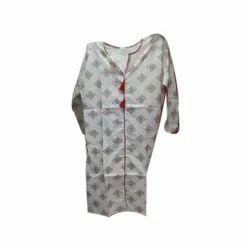 Ladies Rayon 3/4th Sleeve Printed Kurti
