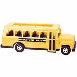 Yellow And Black Plastic School Bus Toy