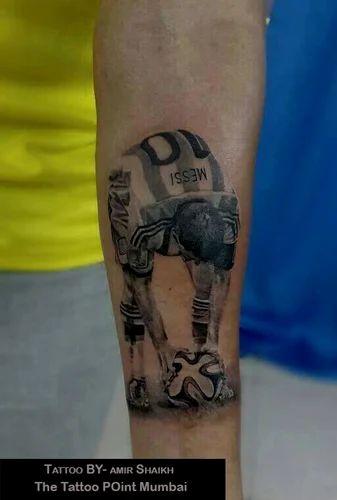 Messi Realstic Tattoo Tattoo Service The Tattoo Point