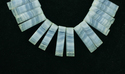 Blue Lace Agate Stick Shape Faceted Beads