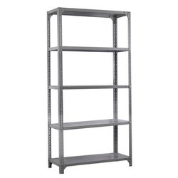 Mild Steel 6.5 Feet MS Slotted Angle Rack, For Office
