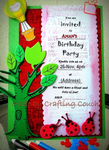 Birthday Invitation Card With Jungle Theme Pack Of 10