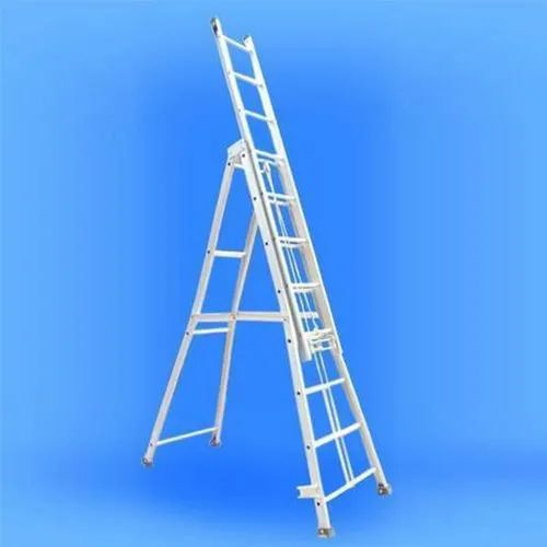 5.42-8.23 m A Type Aluminium Self Supporting Extension Ladder, Actual, for Industrial