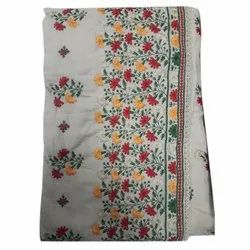 Unstitched Embroidered Cotton Dress Material, Machine wash