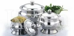 Soup Toureen Dish with Ring Handle & Cover