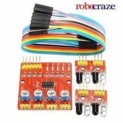 Robocraze Channel Infrared Tracking Sensor Module IR Line Patrol